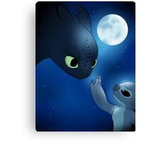 How to Train Stitch's Dragon Canvas Print