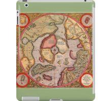 North Pole Map 1595 iPad Case/Skin