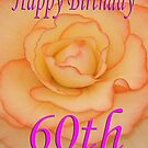 Happy 60th Birthday Flower by martinspixs