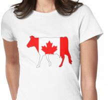 Canada Cow Womens Fitted T-Shirt
