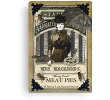 Mrs. Macabre's Meatpies Canvas Print