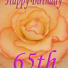 Happy 65th Birthday Flower by martinspixs