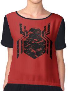 Spiderman Logo - Civil War (Black) Chiffon Top
