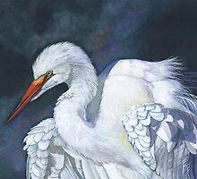 Great Egret by Louise De Masi