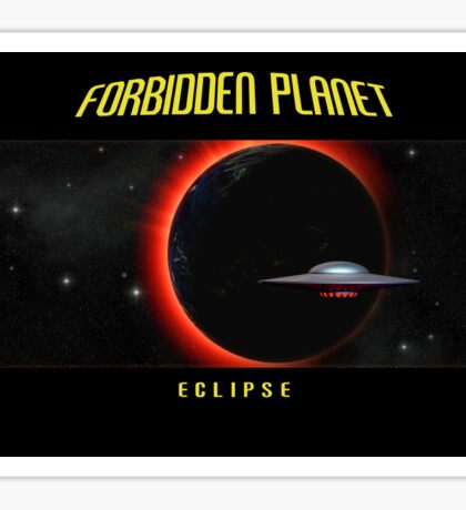 Forbidden Planet Eclipse Poster Sticker