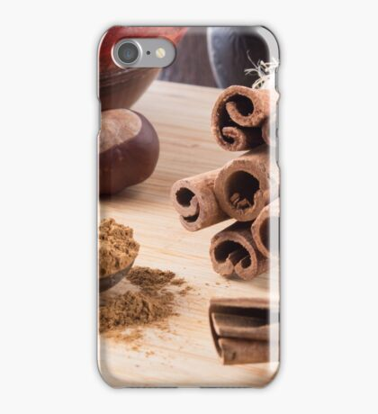 Ingredients for cooking in the kitchen iPhone Case/Skin