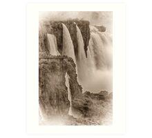 Iguaza Falls - No. 7 - Antique Sepia Art Print