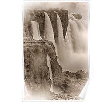 Iguaza Falls - No. 7 - Antique Sepia Poster
