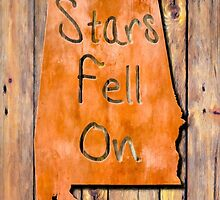 The Stars Fell On Alabama Rustic Map Art by Mark Tisdale