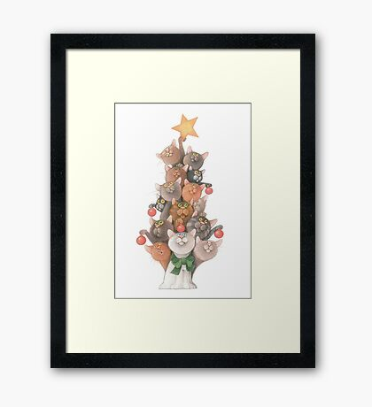Cats christmas  Framed Print
