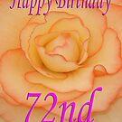 Happy 72nd Birthday Flower by martinspixs