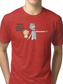 Rick and Morty - Graphic Design Dimension Tri-blend T-Shirt