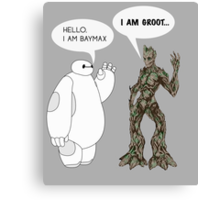 Baymax and Groot Canvas Print