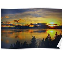 A Tahoe Sunset Poster