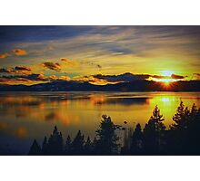 A Tahoe Sunset Photographic Print