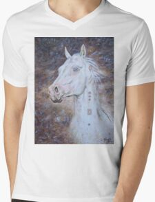 Habib Shael -- Akhal Teke Stallion Mens V-Neck T-Shirt