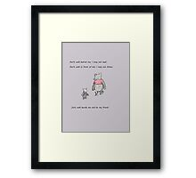 Pooh and Piglet Be My Friend Framed Print