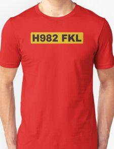 Top Gear's H982 FKL License plate T-Shirt