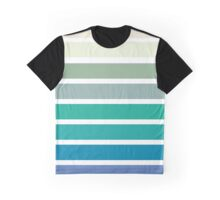 green, blue, turquoise stripes Graphic T-Shirt