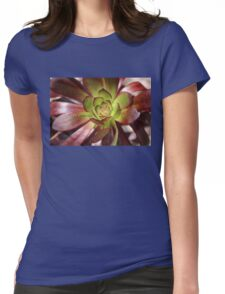 Love is.......Succulents.. Aeonium Womens Fitted T-Shirt