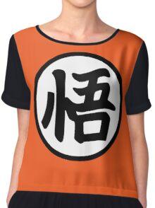 Goku's Wisdom Kanji - Dragon Ball Z Chiffon Top