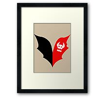 HTTYD Toothless Tail Heart Framed Print