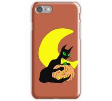 Black Cat Crescent Moon iPhone Case/Skin