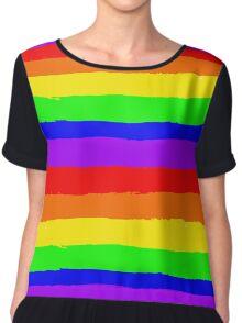 Hand Drawn Rainbow Pattern Chiffon Top
