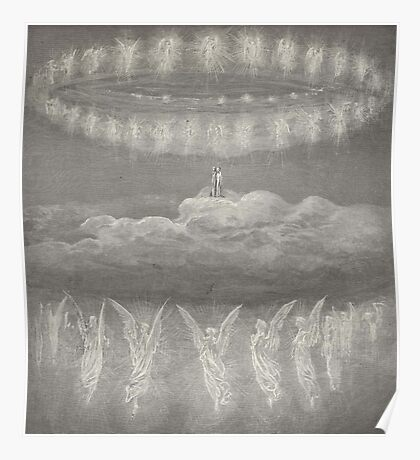 Gustave Dore, Illustration for Paradiso, Paradise, Heaven, Heavenly, Angels Poster