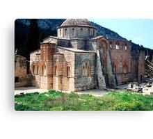 Church at Daphni, Greece Canvas Print