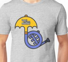 Blue French Horn/Yellow Umbrella How I met your mother Unisex T-Shirt