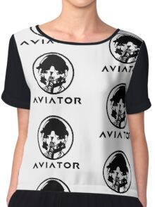 Aviator Fighter Pilot Chiffon Top
