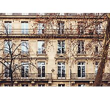 Traditional French Architecture with Typical Windows Photographic Print