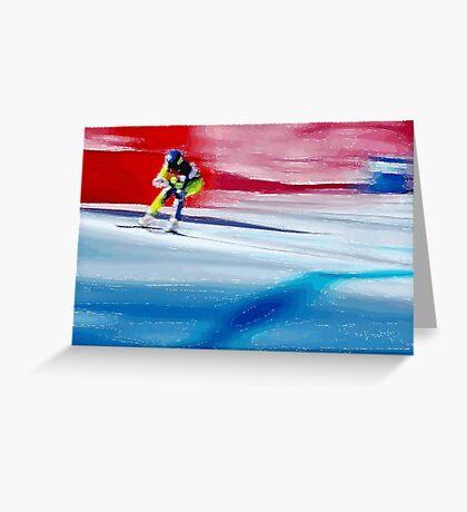 Giants Slalom  Greeting Card
