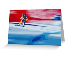 Giants Slalom 2 Greeting Card