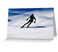 Giants Slalom 3 Greeting Card