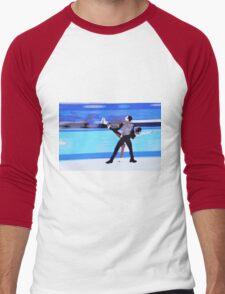Figure Skaters Men's Baseball ¾ T-Shirt