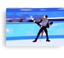 Figure Skaters Canvas Print