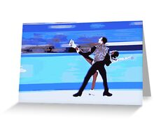 Figure Skaters Greeting Card