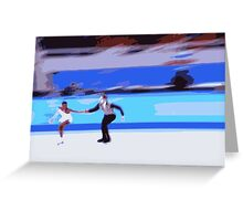 Figure Skaters 3 Greeting Card