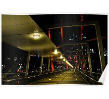 kurilpa bridge, brisbane, queensland, australia Poster