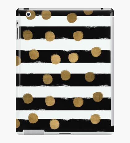 Golden Dotty Stripe iPad Case/Skin