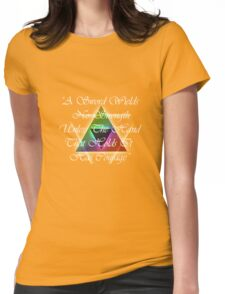 Legend of Zelda, Courage Womens Fitted T-Shirt