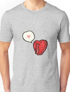 funny cartoon love heart Unisex T-Shirt