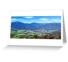 Mount Beauty Panorama Greeting Card