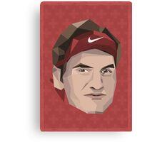 Roger Federer, Swiss Man of Legend Canvas Print