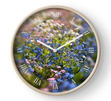 Myosotis flowers in spring Clock