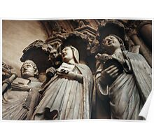 Gothic Background with Ancient Saints Poster