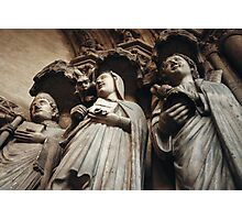 Gothic Background with Ancient Saints Photographic Print