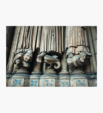 Gothic Background with Chimeras Photographic Print
